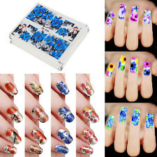 50 Sheets Mixed Flower Pattern Stickers DIY Water Transfer Nail Art Decals Decor