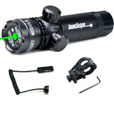 """Tactical Green Laser Sight Rifle Dot Scope W/ 1"""" Offset Weapon Picatinny Mount"""