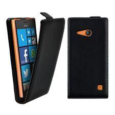 Pour Nokia Lumia 730 Lumia 735 - Etui Housse Vertical Cuir Noir - Un Film