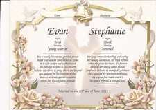 Personalized Double Name Meaning Gift for Anniversary or Wedding Customize