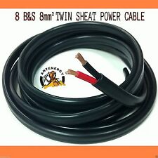 10m METER 8mm 8 B&S TWIN CORE DOUBLE INSULATED CABLE COPPER 12V WIRE DC-DC