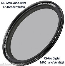 B+W ND Grau-Vario-Filter 52 mm 1-5 Blendenstufen XS Pro Digital MRC nano