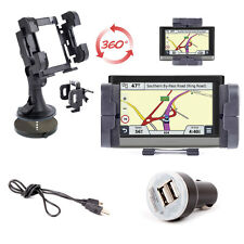 Car Mount For Garmin nuvi 2577, 3710, 3590LMT PLUS Data Cable & 2x USB Adaptor