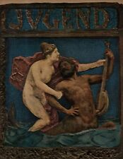 1902 Jugend May 12 German Art Nouveau Cover - The Merman and the Sea Nymph