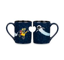 Disney Parks Wall-E and EVE Heart Mug Set Duo Valentine's Day Gift NEW