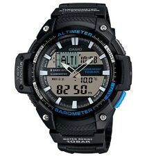 Casio Watch * SGW450H-1A Twin Sensor Black & Blue Resin Men COD PayPal