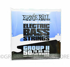 1 Set ERNIE BALL® Flatwound 50 Group II ELECTRIC BASS GUITAR STRINGS 2804 50-105