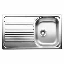 Blanco TIPO RIGHT HAND SINGLE BOWL KITCHEN SINK Stainless Inset w/ Drainer 45cm