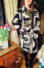 Desigual Coat in Black and White print