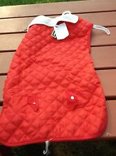 NWT Pup Crew Red Dog Coat  XXXL  31 - 36 Inches