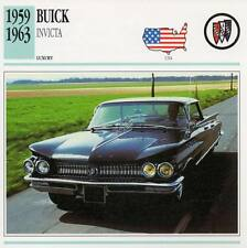 1959-1963 BUICK INVICTA Classic Car Photograph / Information Maxi Card
