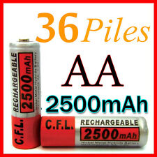 36 PILES ACCUS RECHARGEABLE AA NI-MH 2500mAh 1.2V LR06 MIGNON - DIRECT DE FRANCE