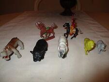 7 FIGURITAS DE ANIMALES DE LOS AÑOS 80 / 7 animal figurines THE 80