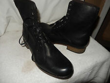 New MENS JOHN VARVATOS Black Leather COMBAT Lace Up ANKLE BOOTS Shoes 13 $499