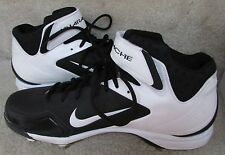 Nike Mens Metal Baseball Cleats Black Air Huarache 2KFRESH Pro Model Size 13