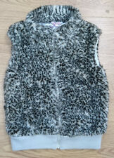MISS EVIE girls gilet jacket coat age 8-9 years leopard print fur
