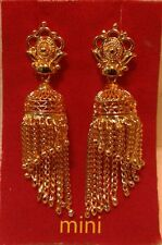 indian traditional bollywood 22k gold plated bridal jhumka jhumki earrings set