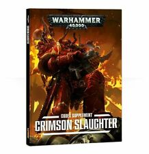 CRIMSON SLAUGHTER CODEX CHAOS SUPPLEMENT 2nd ed WARHAMMER 40,000 GAMES WORKSHOP