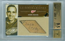 2003-04 BAP ROGER CROZIER 1/1 AUTO LUMBERGRAPHS ULTIMATE 4TH EDITION RED WINGS