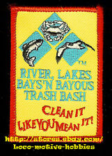 Patch  RIVER LAKES BAYS 'N BAYOUS TRASH BASH Texas Commission Environmental TCEQ