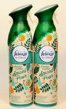 2 Cans Febreze Air Effects SPICED PEAR Air Freshener Room Spray