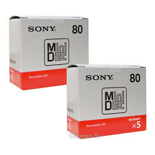 10 Sony MD Blank Mini Disc 80 Minutes Recordable Sony MiniDisc Japan Made