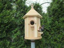 THE NATURAL CEDAR DOUBLE BIRD HOUSE