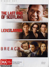 The Last King Of Scotland / Lions For Lambs / Breach 3 Disc DVD Movie Set R4