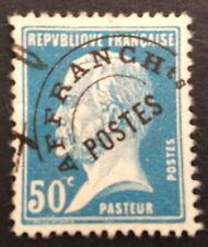 timbre PREOS, n°68, 50c bleu type pasteur , Obl, TBC, cote 30e