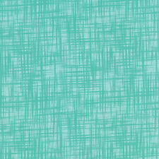 "Teal Mesh Print Blender Color Theory Moda Cotton Quilt Fabric 20"" remnant #3A"