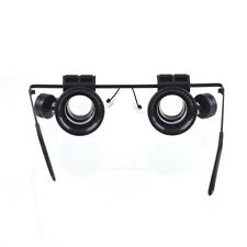 Glasses Type 20X Watch Repair Magnifier with LED Light GD