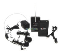 Wireless Cordless Voice Audio Headset Lapel Microphone For PA/Karoke Camcorder