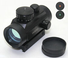 Tactical 1x30 Red Green Dot Sight Scope w/20mm Weaver Mounts for Hunting