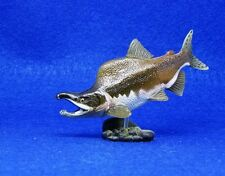 Retired Kaiyodo Choco Q Male Pink salmon Fish Animal PVC mini figurine figure
