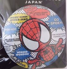 """RARE BIG Marvel Universal Studios Japan Spider-Man 3"""" Pin With Phrases On It NWT"""