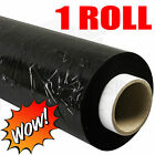 1xSTRONG ROLL BLACK PALLET STRETCH SHRINK WRAP PARCEL PACKING CLING FILM 400mm