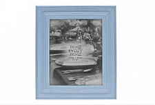 "Pastel Sky Blue 8 x 10"" Shabby Chic Large Freestanding Photo Frame 22921"