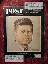 Saturday Evening POST December 14 1963 JOHN F KENNEDY MILT KAMEN +++