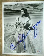 *RARE IMAGE* Cindy Crawford Autographed 8×10 PSA **SEXY**
