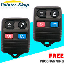 2 New Replacement Keyless Entry Remote Fob Transmitter For Ford + Fresh Battery