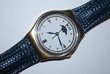 1992 Vintage Swatch Watch GX-709 C.E.O. Men Ladies Moon Phase Swiss Quartz