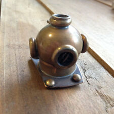 Vintage Style Diver's Diver Helmet Pendant Charm Nautical Antique Brass Bronze