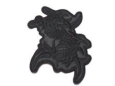 SEPULTURA S  LOGO  SHAPED  BLACK   EMBROIDERED PATCH