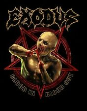 EXODUS cd lgo PENTAGRAM ZOMBIE Official SHIRT SMALL New blood in blood out