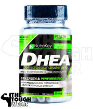 NUTRAKEY DHEA 50mg 100CAPS - PROMOTE MUSCLE GROWTH - ENHANCE TESTOSTERONE