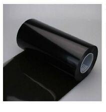"Smoked Fog Light Headlight Tint Vinyl Film Wrap Sheet 12""x80"" Light Black"