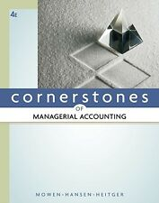 Cornerstones of Managerial Accounting 4th Edition Hardcover