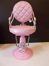 "PINK HAIR SALON CHAIR FITS 18"" GIRL DOLL AMERICAN OUR GENERATION BATTAT BEAUTY#2"