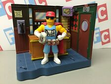 Playmates The Simpsons World of Springfield Moes Tavern w Duffman Figure