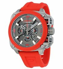 Diesel DZ7368 Red Silicone Band, 52mm Case, 10ATM  RRP $479